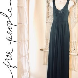 Slinky FREE PEOPLE gypsy witch maxi dress
